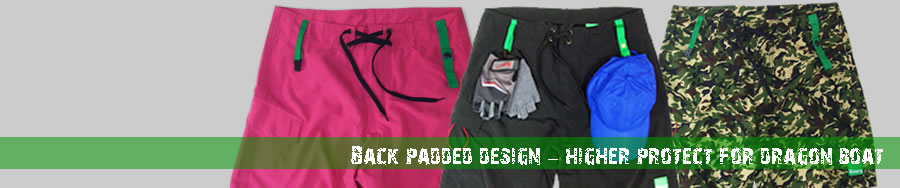 dragon boat paddling padded shorts